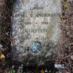 Aksel Ejler Andersens gravsten på Assistens Kirkegård