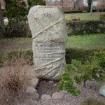 Marius Nykvists gravsten på Fredens Kirkegård