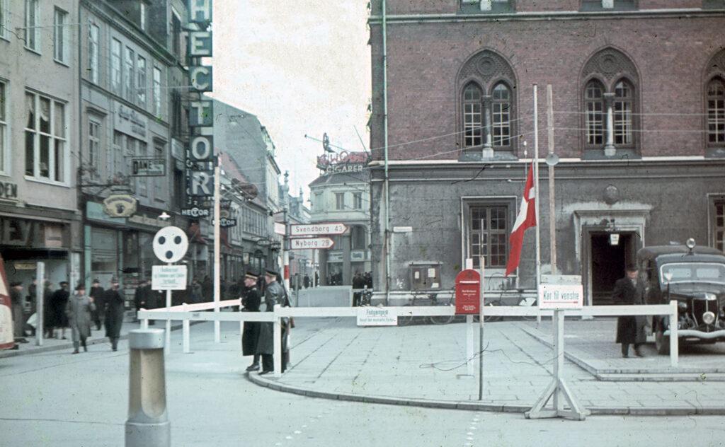 Politistationen på Odense Rådhus 1944