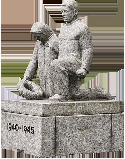 """""""Besættelsestidens Ofre"""" af Robert Lund-Jensen i Ansgar Anlæg. Claus Thøgersen fot."""
