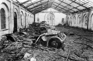 Eksercerhuset efter branden i 1943