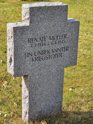 Tysk gravsten på Assistens Kirkegård